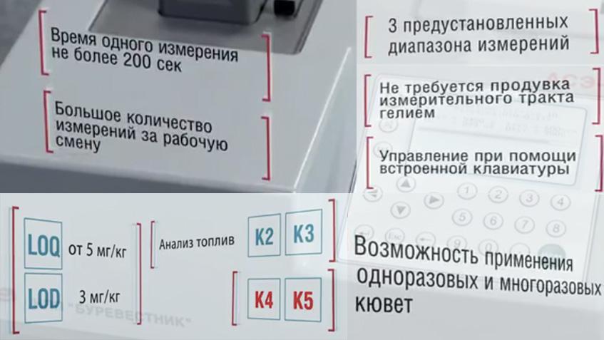 Анализатор серы АСЭ-2: преимущества.